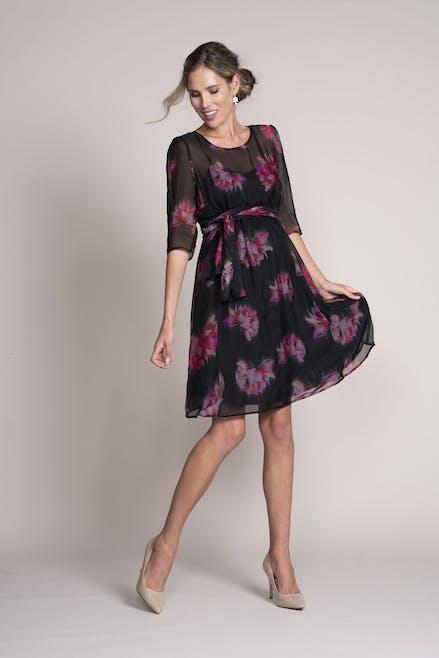 robe en soie imprimée seraphine