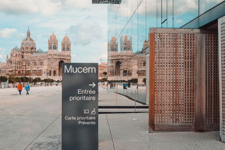 le Mucem dans la ville de Marseille