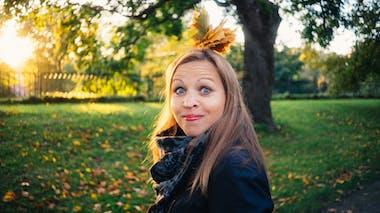 femme dans un parc