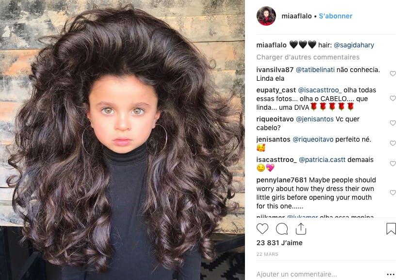 Mia Aflalo, 5 ans, star d'Instagram grâce à sa chevelure incroyable