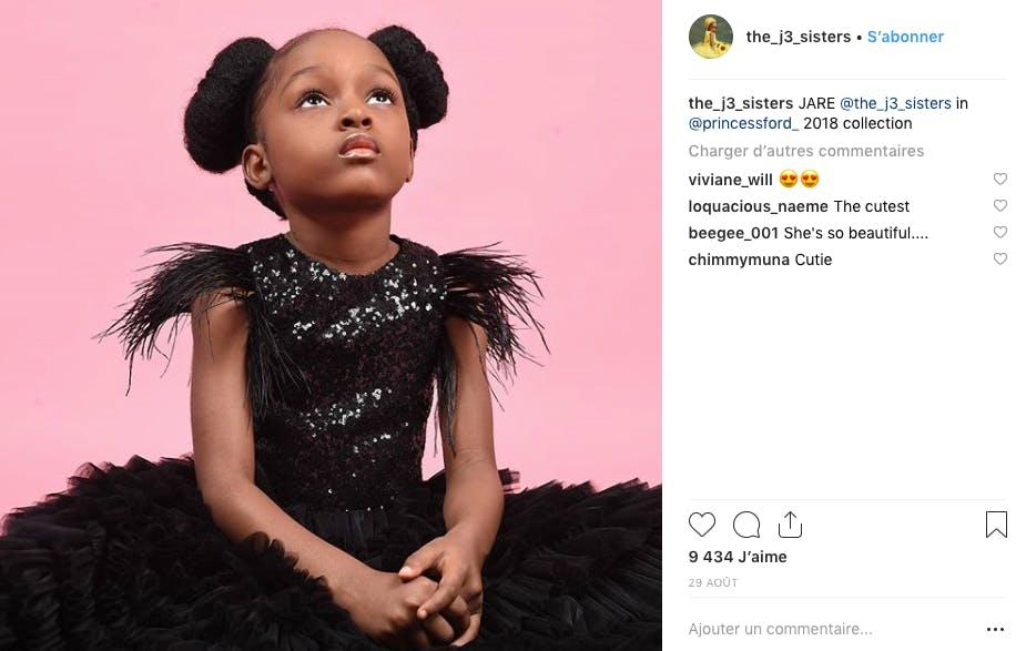 Agée de 5 ans, Jare Ijalana, petite éthiopienne, est devenue mannequin