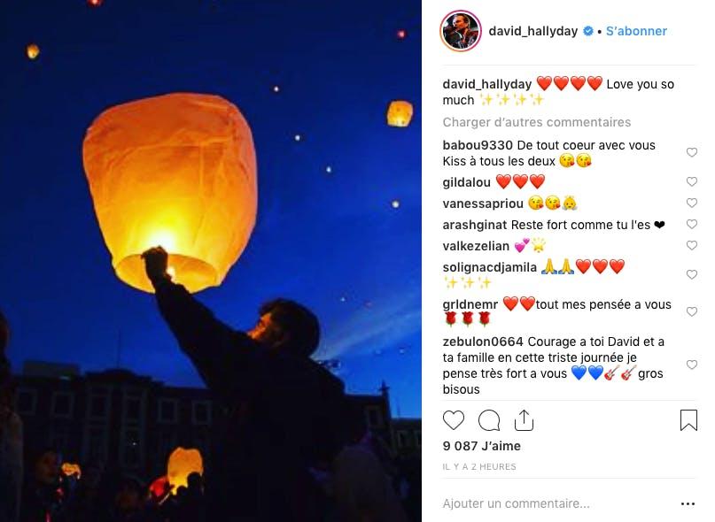 A l'occasion du premier anniversaire de la mort de Johnny Hallyday, David Hallyday lui a adressé un message