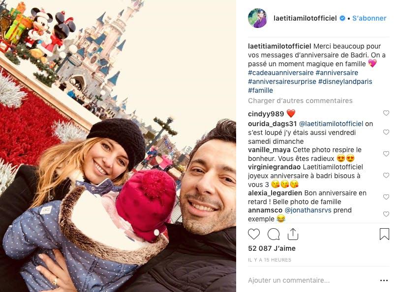 Pour fêter l'anniversaire de Badri, la famille de Laetitia Milot a choisi la féérie Disney