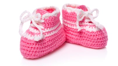 chaussons nouveau-né fille