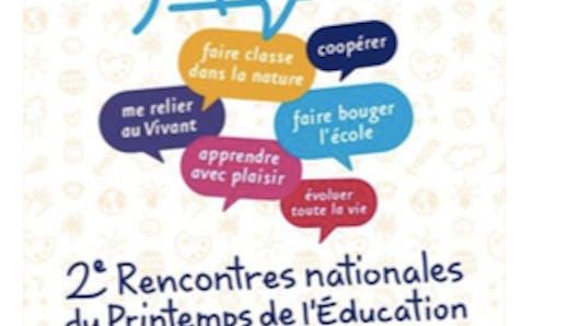 2es Rencontres du Printemps de l'éducation: inscrivez-vous!