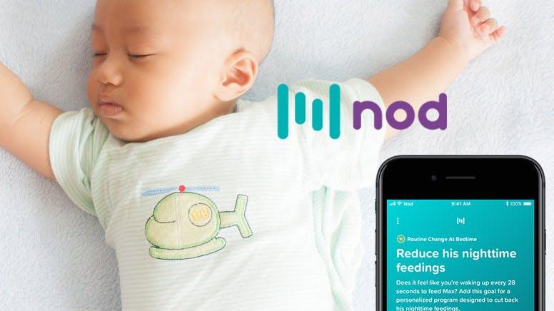 application Nod et bébé qui dort