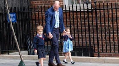 Prince William, prince George et princesse Charlotte