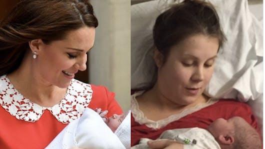 7 heures après l'accouchement… des internautes comparent leur post-partum à celui de Kate