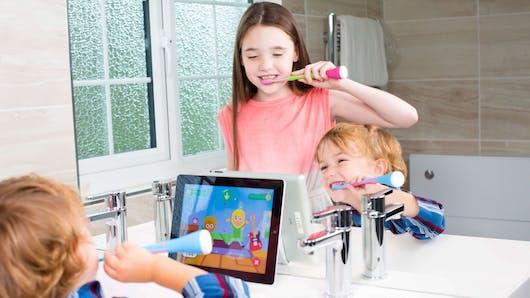 Playbrush, la brosse à dents ludique et connectée proposée par Signal