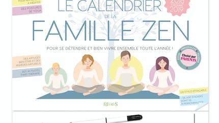 Le Calendrier de la Famille Zen 2018-2019 de FLEURUS