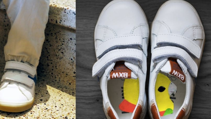 S'habiller tout seul: des autocollants pour mettre ses chaussures aux bons pieds