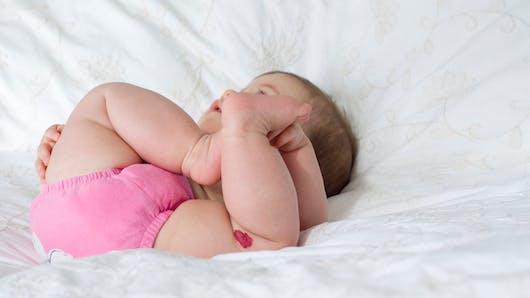 Bébé a un angiome