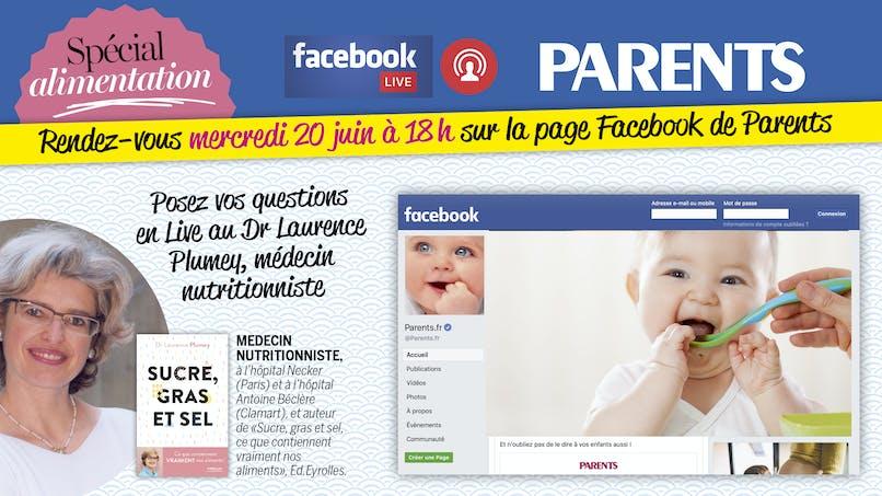 Rendez-vous mercredi 20 juin pour un Facebook Live spécial Alimentation