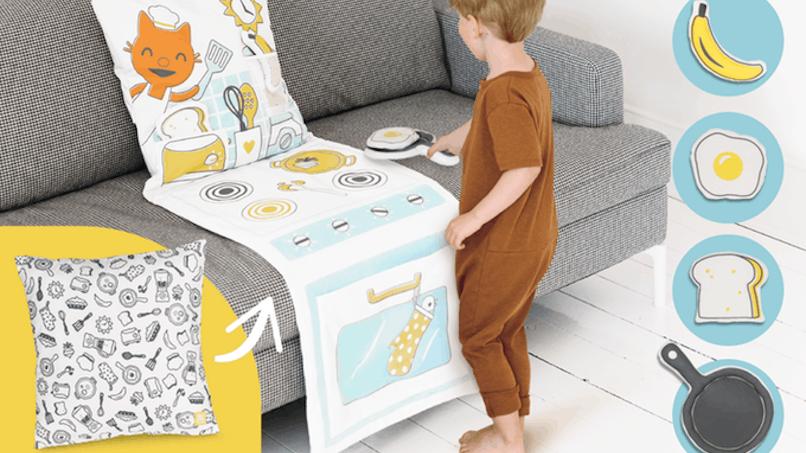 Sago Mini invente le coussin qui se transforme en espace de jeu pour les enfants.