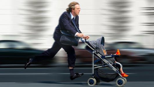 Conciliation vie pro/ vie perso : les salariés parents ont le sentiment de manquer de temps.