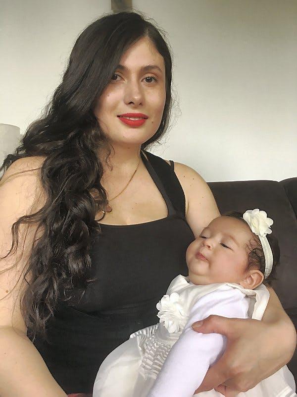 maman colombienne et son bébé