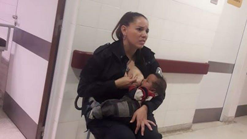 Après avoir allaité un bébé abandonné, une policière promue sergent (photo)
