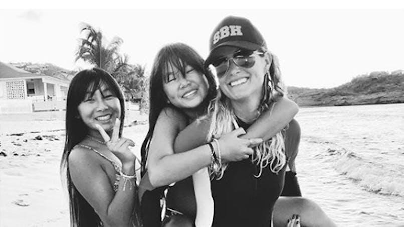 Kylie Jenner, Emmanuelle Béart, Laeticia Hallyday... le diapo des people en famille
