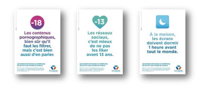 Campagne Bouygues sur les bonnes pratiques du téléphone po