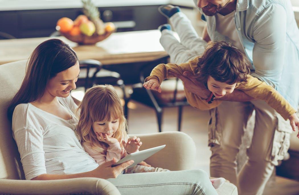 couple avec deux enfants