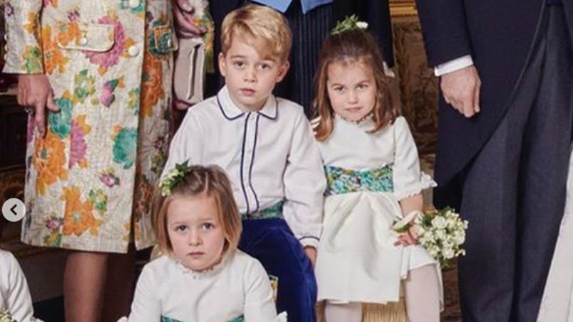 George et Charlotte, enfants d'honneur au mariage de la princesse Eugenie (diaporama)