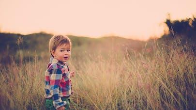 petit garçon dans la lande