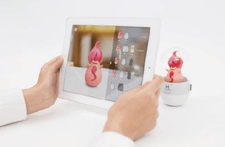 Tablette et Element Capsule Réalité augmentée
