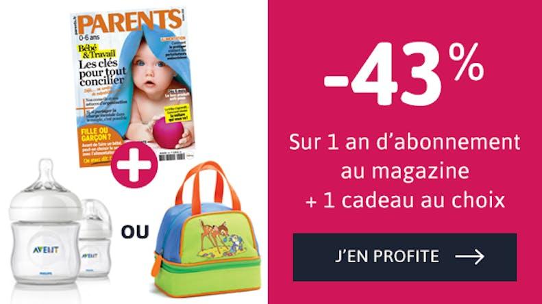 Découvrez votre offre d'abonnement au Magazine Parents