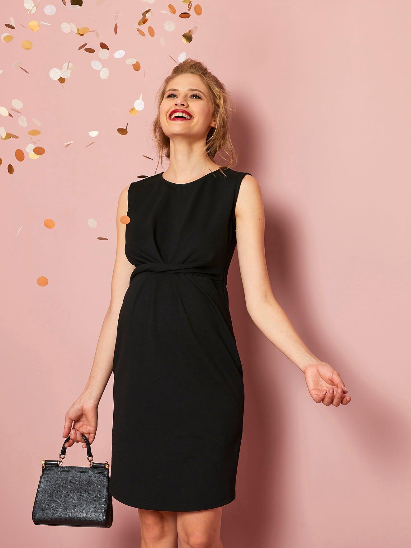 coupe classique meilleurs tissus couleurs harmonieuses 2018 : 15 tenues de grossesse pour les fêtes | PARENTS.fr