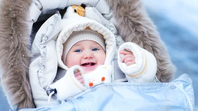 sortir avec bébé en hiver