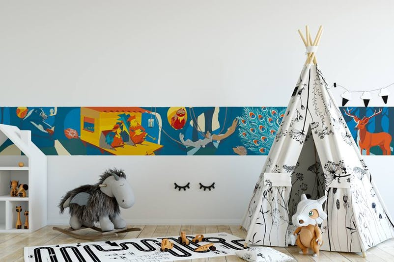 Story Papers frise murale chambre enfant