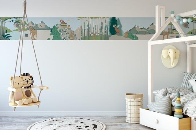 chambre d'enfant décorée avec story papers