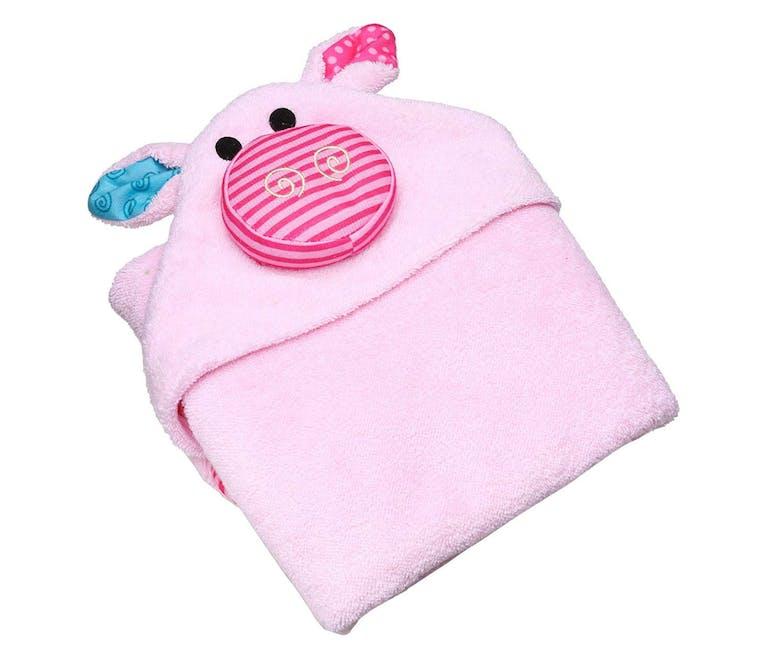 Une serviette de bain cochon