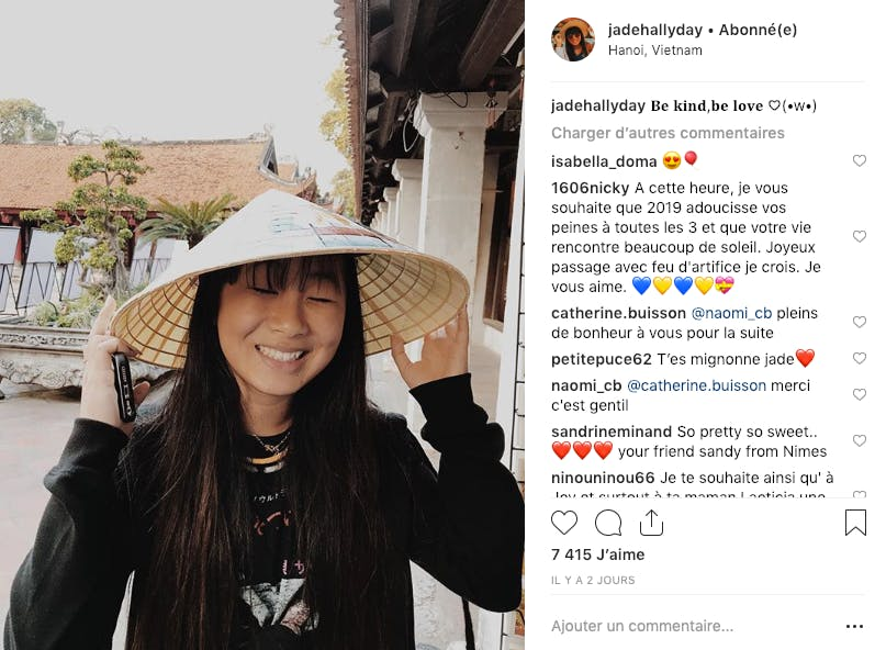 Jade Hallyday s'amuse toujours autant au Vietnam