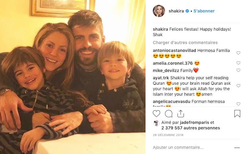 On a failli rater cette adorable (et rare) photo de Shakira en famille
