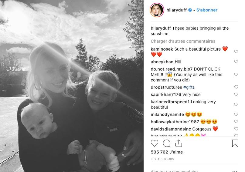 Hilary Duff : une maman rayonnante