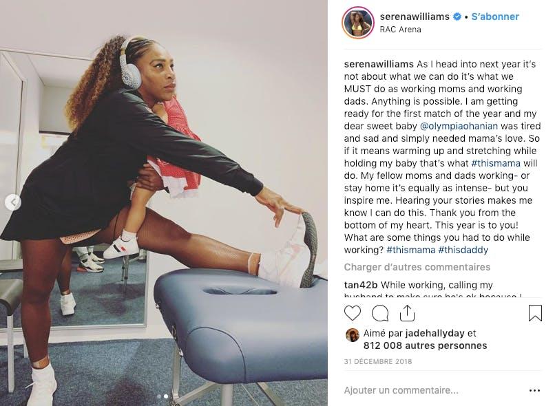 Serena William : être sportive professionnelle ET maman