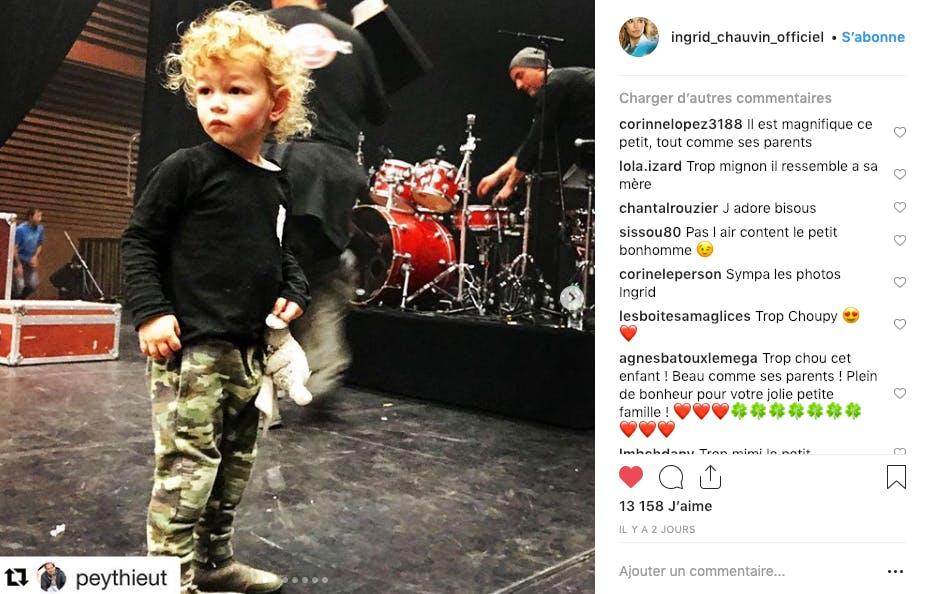 On n'avait pas remarqué comme le fils d'Ingrid Chauvin est passé de poupon à petit garçon !