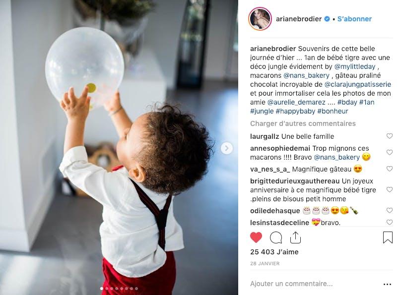 Ariane Brodier avec fêté le 1er anniversaire de son