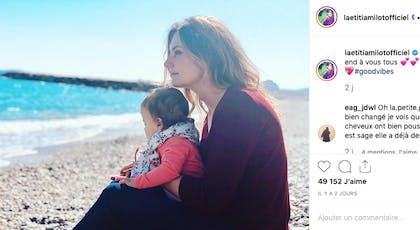 Laeticia Milot : pause rêveuse avec Lyana