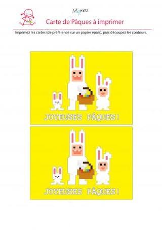 Carte de Pâques à imprimer