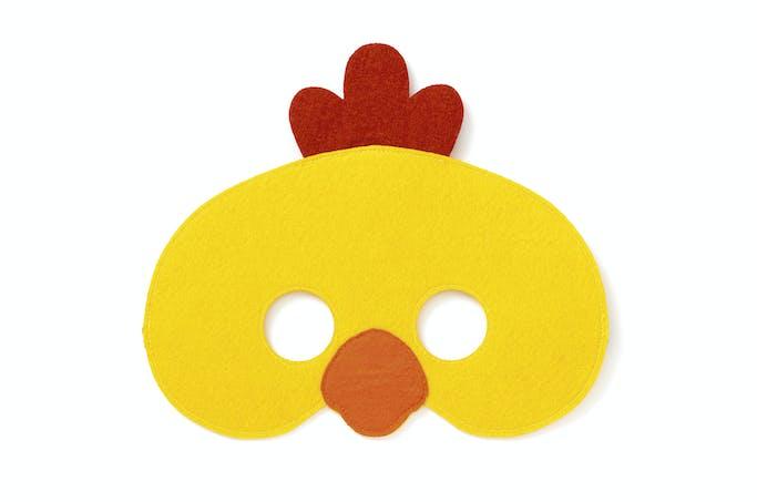 Masque poussin en feutrine de Pâques