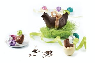 poules en chocolat