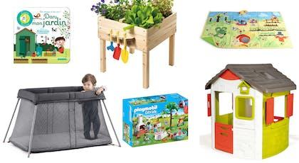 Jeux et articles de puériculture pour bébé en extérieur