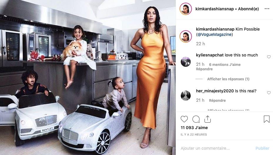 Embouteillage dans la cuisine de Kim Kardashian