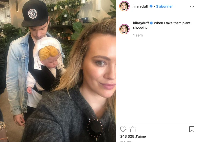 Hilary Duff : shopping en famille