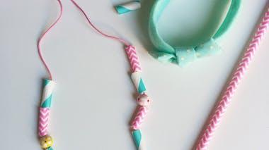 Des bijoux avec de jolies pailles pour la fête des mères