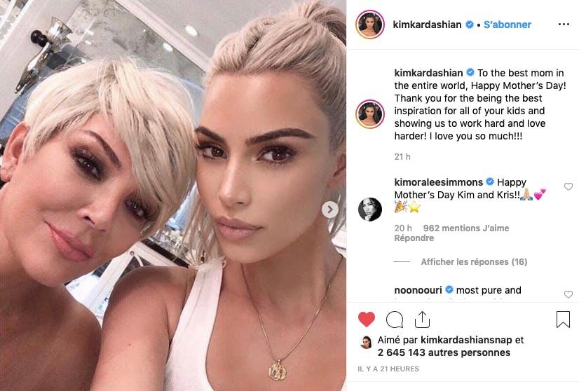 Kim Kardashian et sa mère Chris Jenner