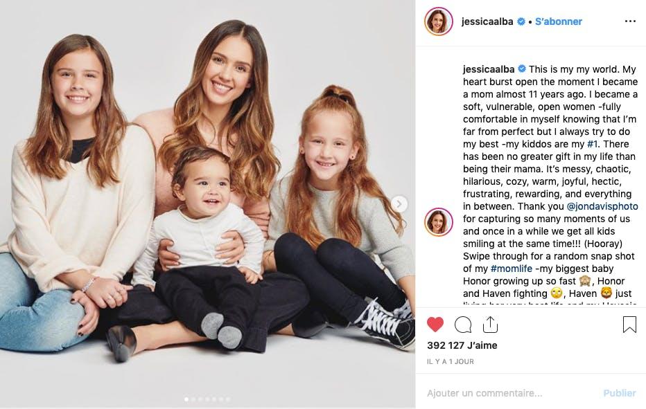 Jessica Alba et ses enfants