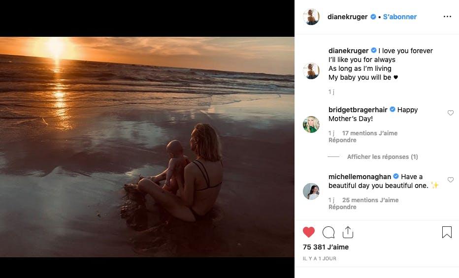 Diane Kruger et sa fille